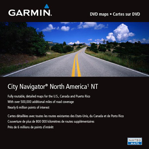 MapSource City Navigator North America NT, DVD