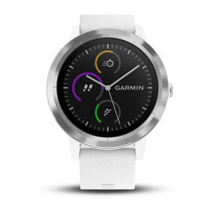 vívoactive 3, White Silicone, Stainless Steel